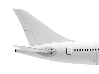 Plane tail wing
