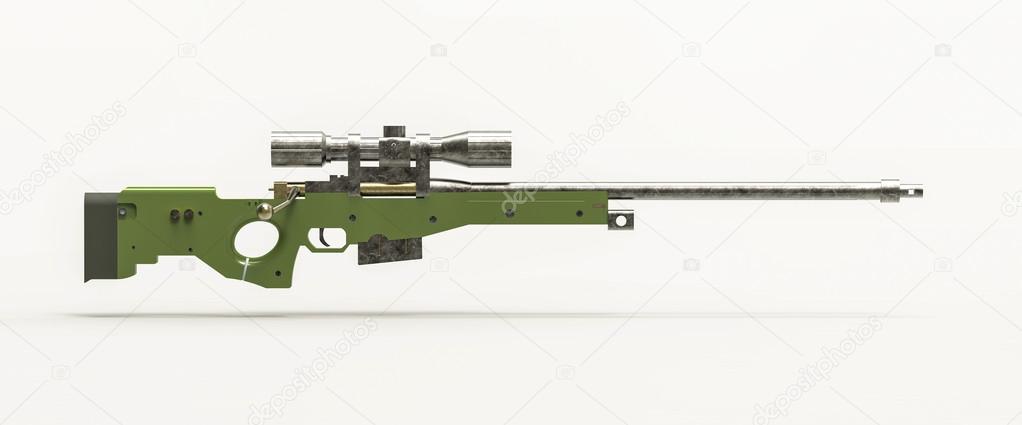緑の狙撃兵のライフル — ストック写真 © jules2000 #58978221