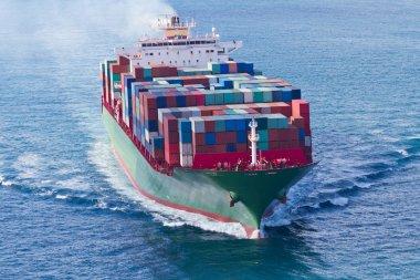 Container Ship stock vector