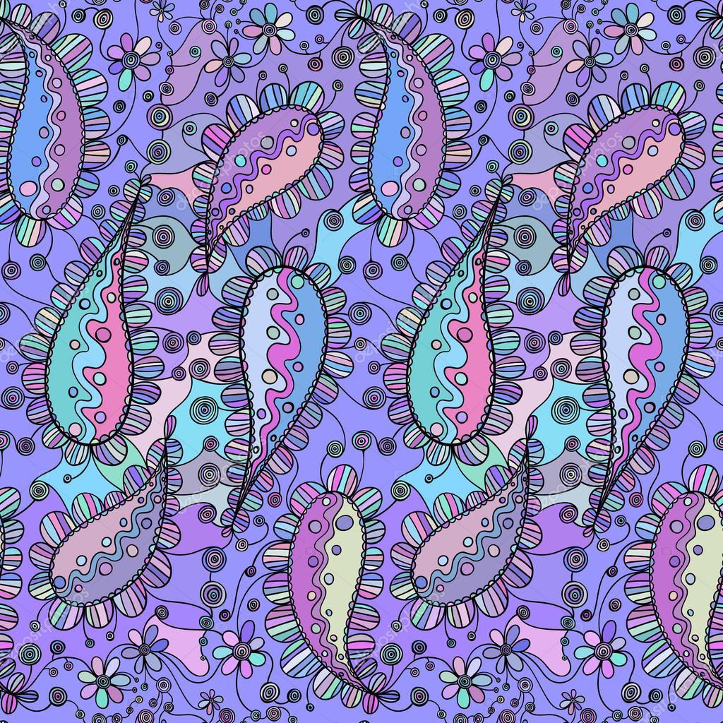 Vector patrón Floral. Textura dibujado a mano con el dibujo de ...