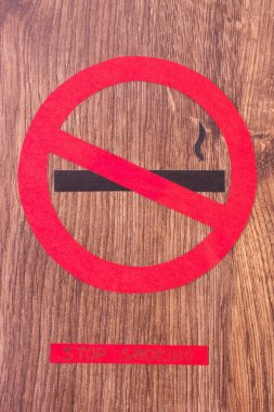 Red round no smoking sign, healthy lifestyles without cigarettes