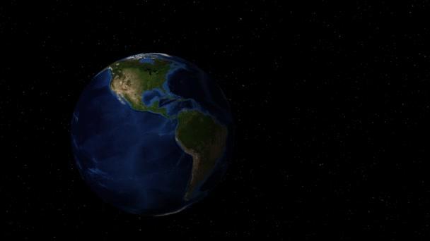 Otáčení země ve vesmíru přiletí do Afriky