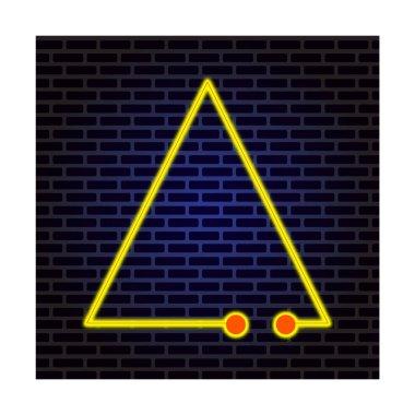 """Картина, постер, плакат, фотообои """"неоновые огни, неоновый светящийся треугольник на темно-изолированных. векторная иллюстрация."""", артикул 470858662"""