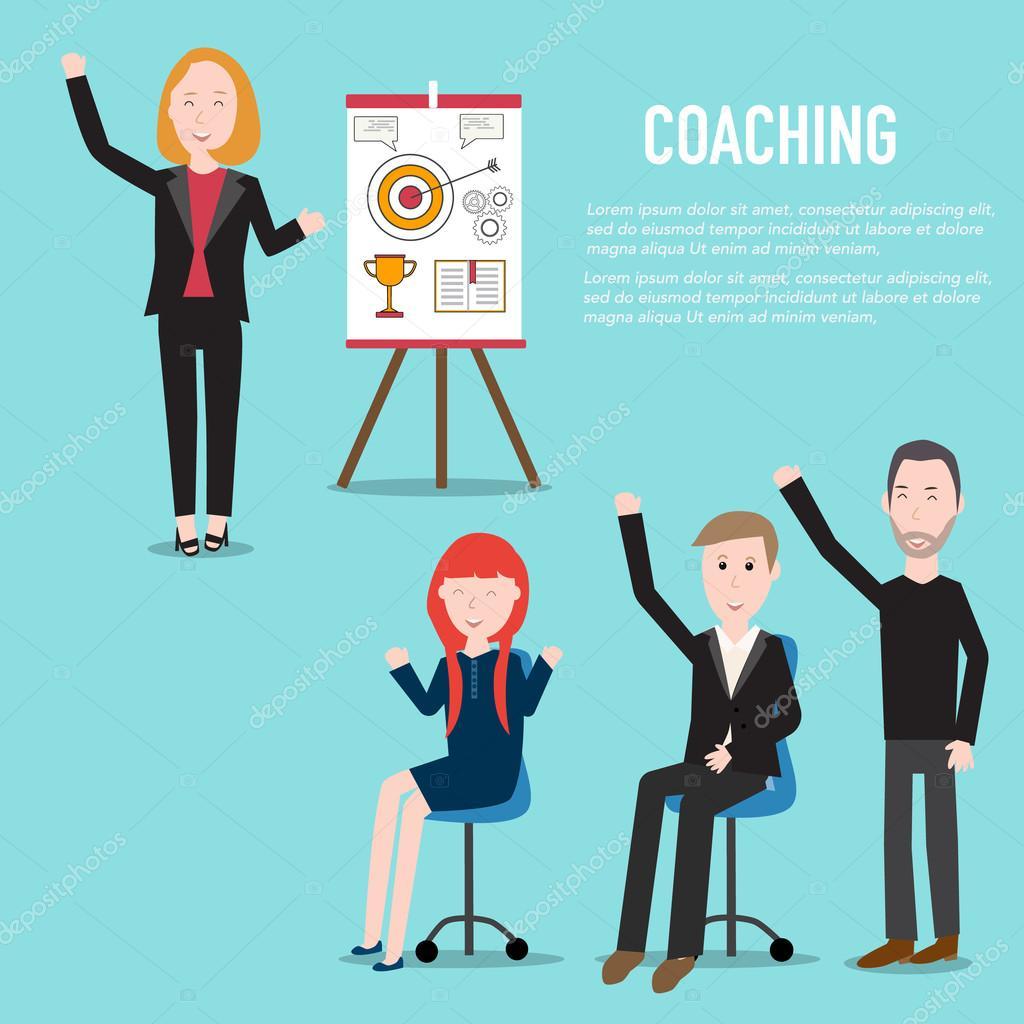 En la oficina de negocios mejoran habilidad o conocimiento para c ...