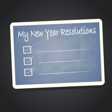 My new year resolution on blackboard