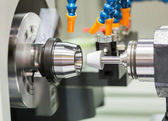 Fotografie automotive cnc lathe and cnc grinding part