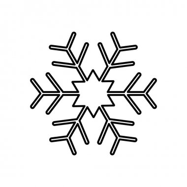 Snowflake icon, flat design style isolated on white background. Vector illustration icon