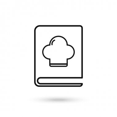 Recipe book icon. Recipe book flat design symbol from Kitchen collection. Flat design icon