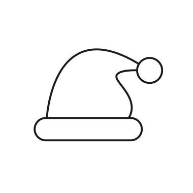 Santa hat flat design icon design vector illustration icon
