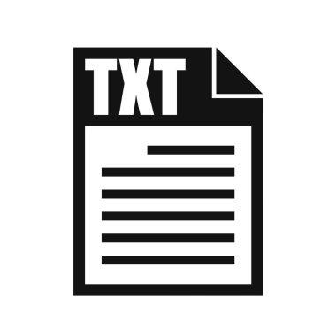 TXT File Vector Icon, Flat Design Style icon