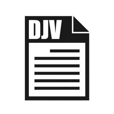 DJV File Vector Icon, Flat Design Style icon