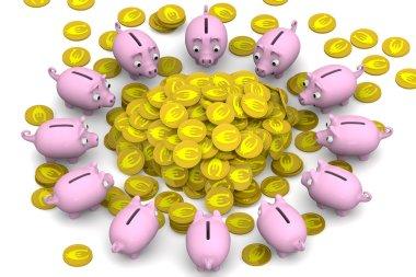 Financial success. Concept