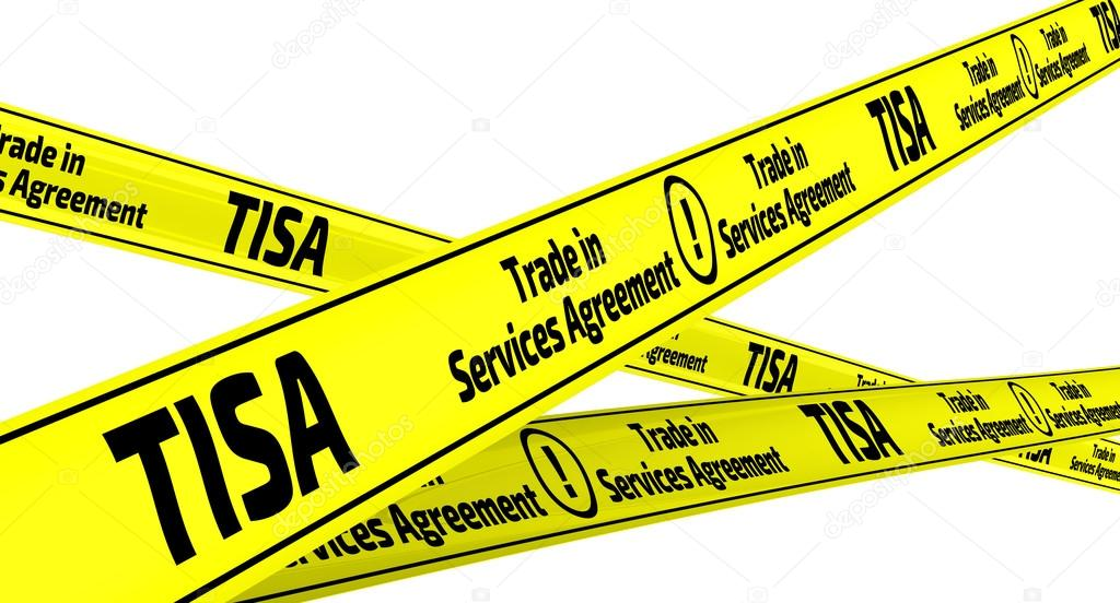 Tisa Trade In Services Agreement Yellow Warning Tapes Stock