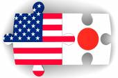 Cooperation between the United States of America and Japan. Concept