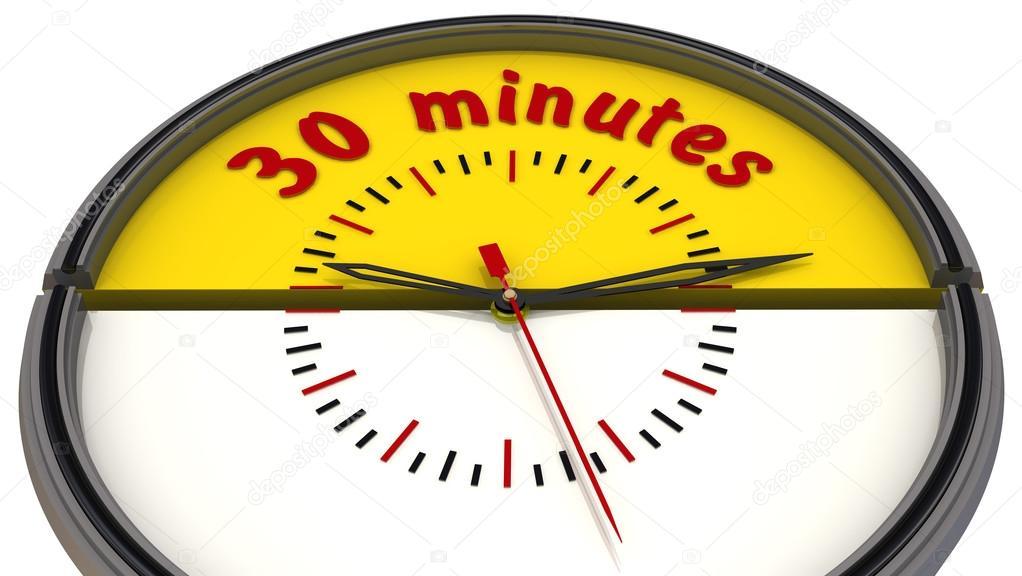 4f7697f2c24 30 minutos no relógio — Fotografias de Stock © Waldemarus  65086085