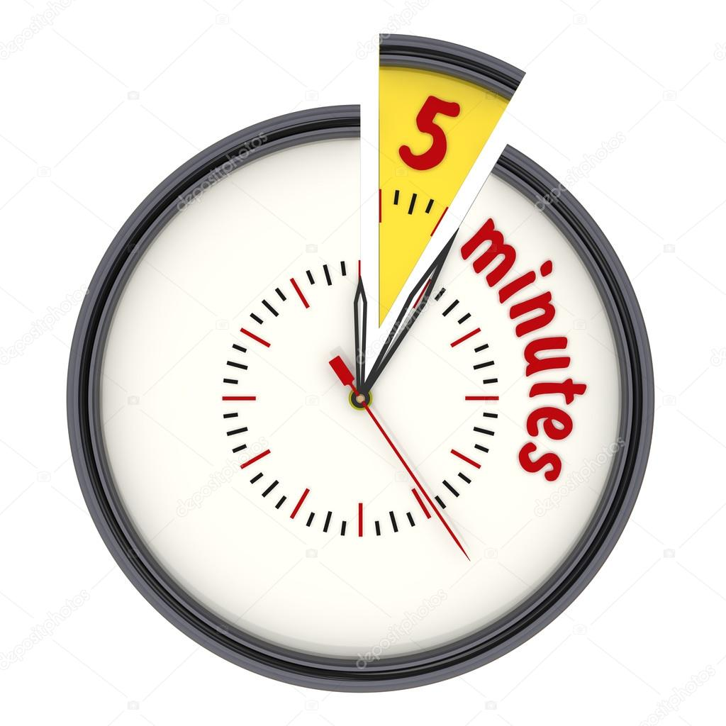 5 minutes on the clock stock photo waldemarus 65089305