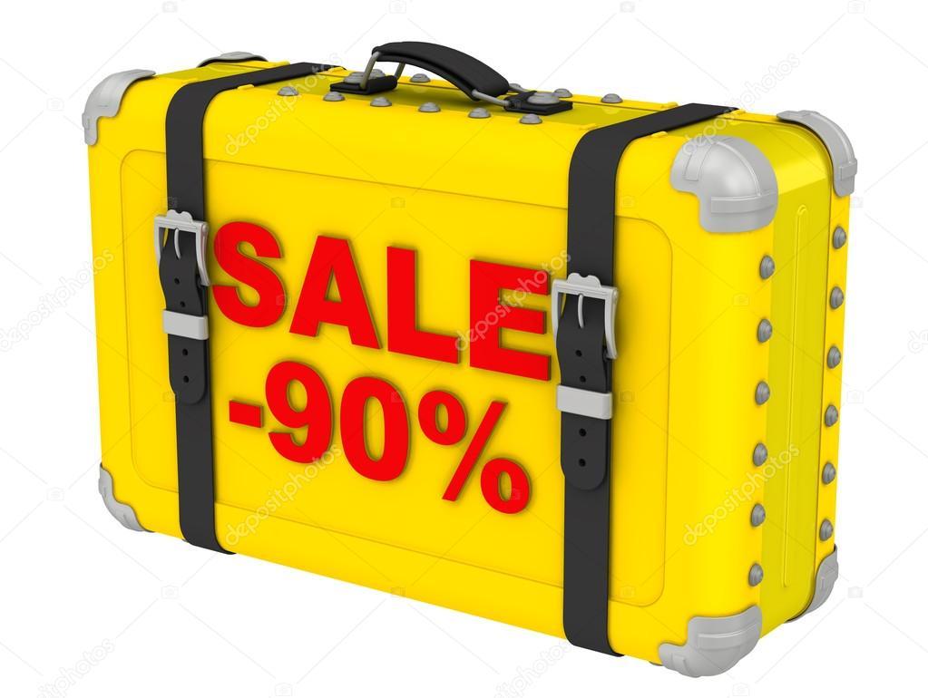 bde1a9296 Venta -90%. La inscripción en una maleta amarilla — Fotos de Stock ...
