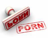 Bílé a červené porno razítko