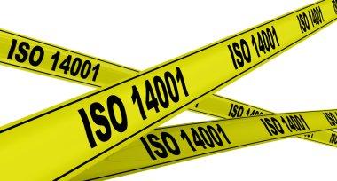 ISO 14001. Yellow warning tapes