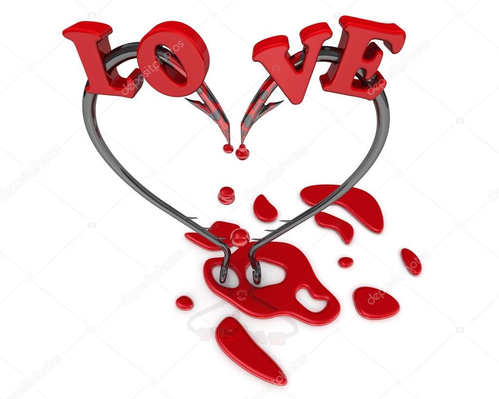 Bleeding heart symbol from fish hooks stock photo waldemarus bleeding heart symbol from fish hooks stock photo 65102217 buycottarizona