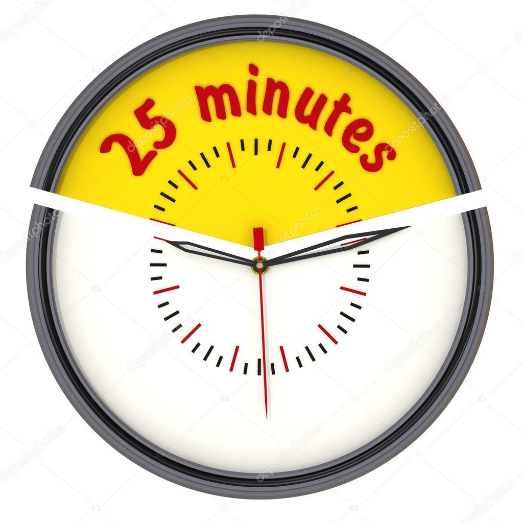 012f2eafaec 25 minutos no relógio — Stock Photo © Waldemarus  65107313