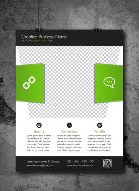 Corporate business flyer template - modern fresh design