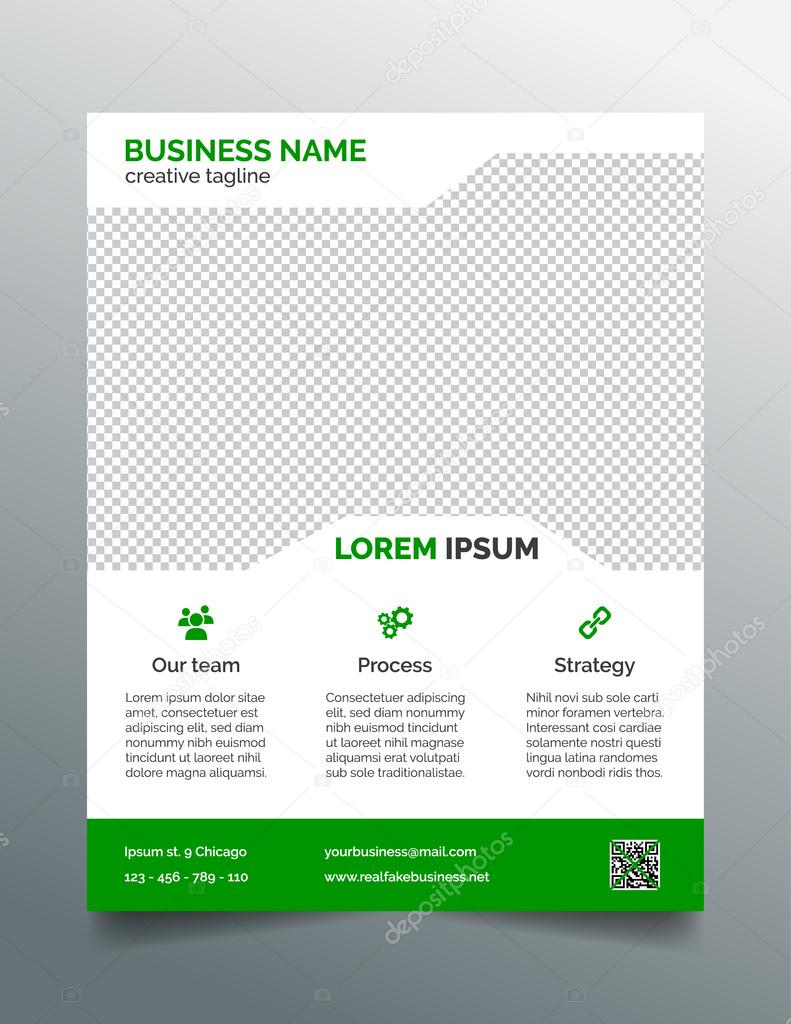 Business flyer template simple green design stock vector business flyer template simple green design stock vector wajeb Gallery