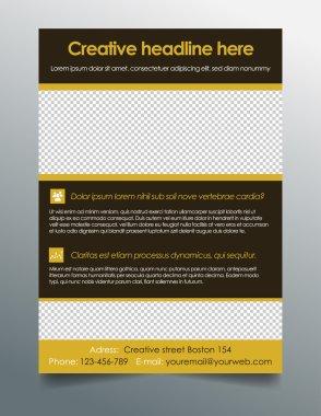 Business flyer template - clean modern design