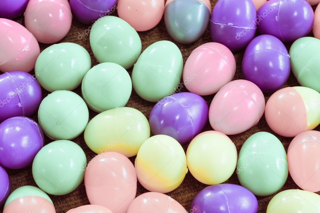 Background Of Multicolored Plastic Easter Eggs Photo By Nitimongkolchai
