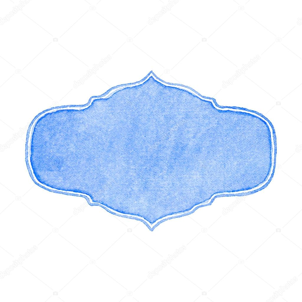 Watercolor frame on the white background, aquarelle. Vector illustration.