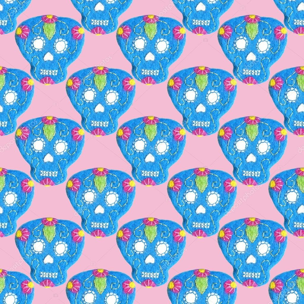 Dia De Los Muertos Desktop Wallpaper Sugar Skull Seamless