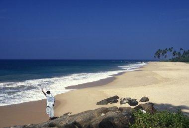 a beach at the coast of Hikaduwa