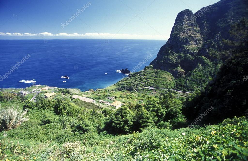 landscape at the North coast on the Island of Madeira