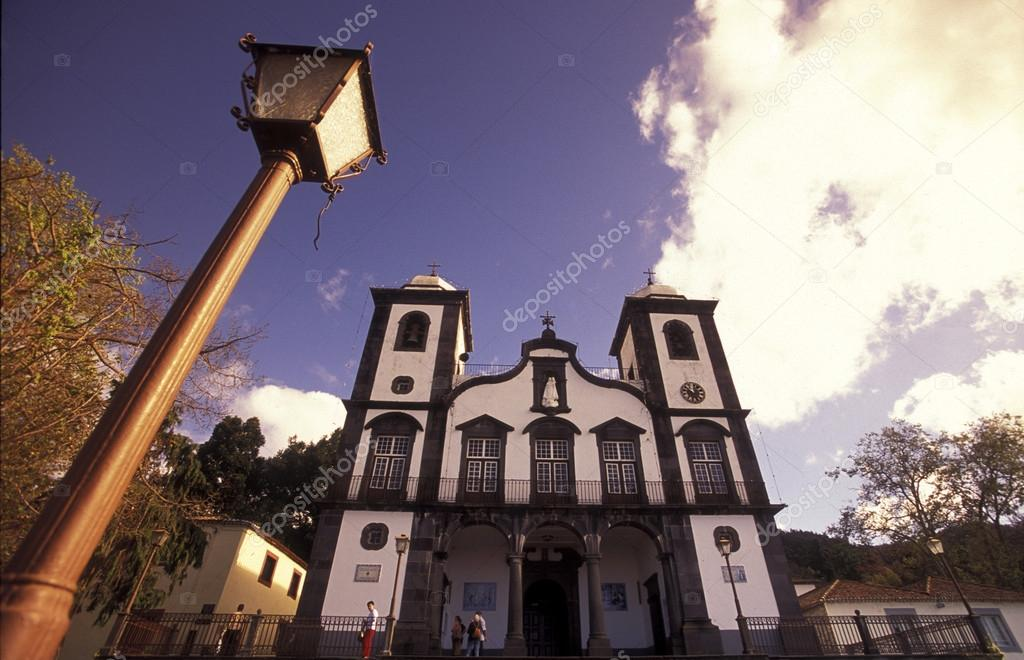 church in a square in the old town of Funchal