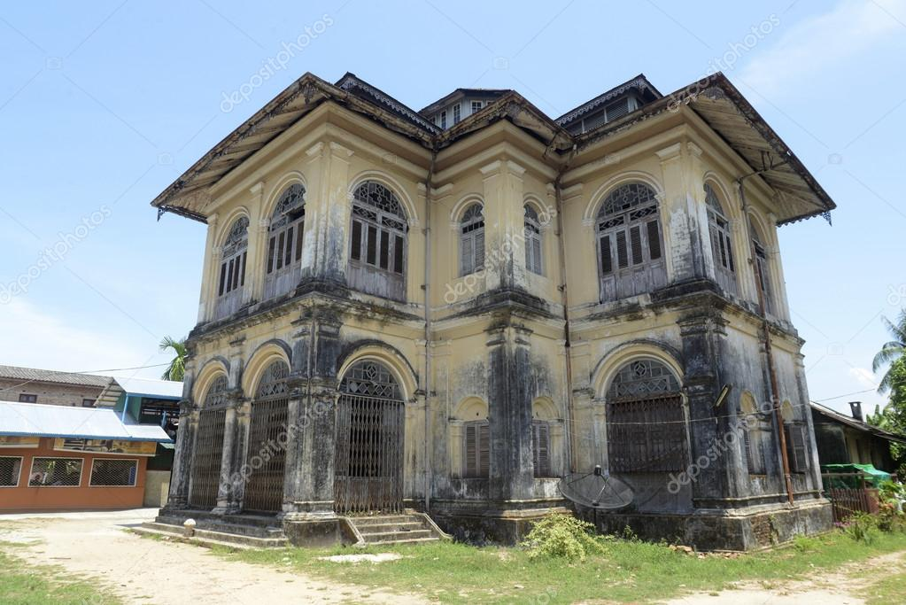 A Colonial House In The Old City Of Myeik South Myanmar Southeastasia Photo By Urf