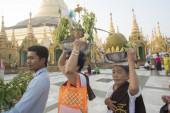Asie Myanmar Yangon Shwedagon Pagoda