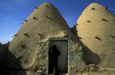 Traditional clay houses in Village of Sarouj