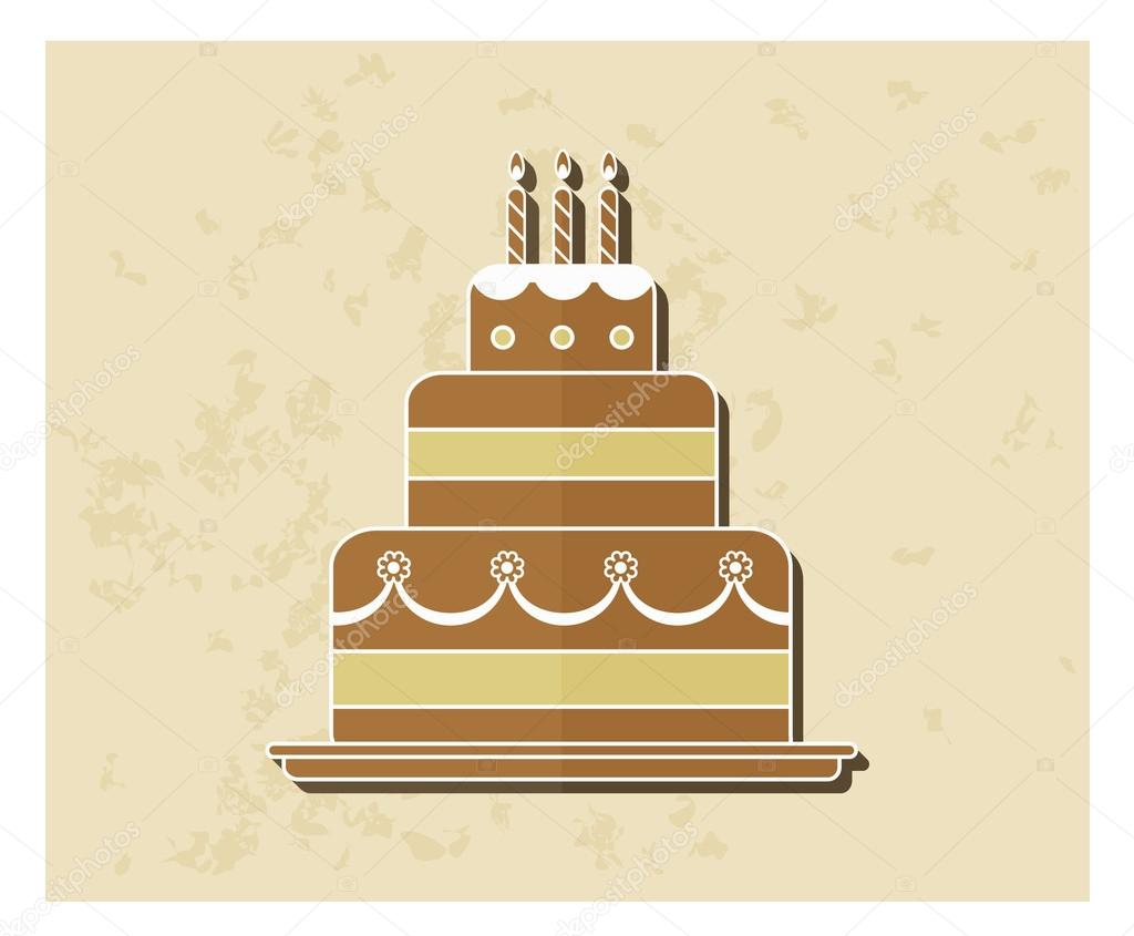 Birthday Cake Images Vektor ~ Birthday cake flat icon u stock vector sabbra cadabra