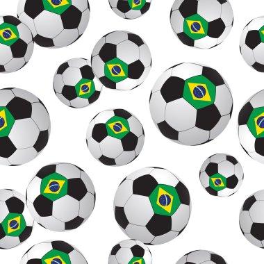 Footballs.  Soccer pattern.