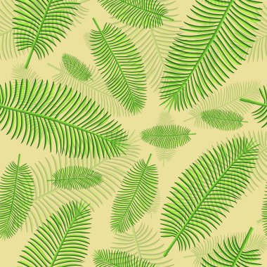 Palm leaves seamless background