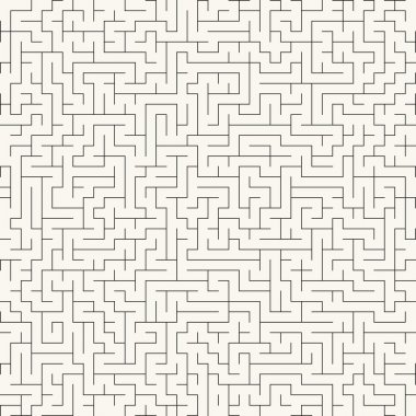 Maze. Seamless vector background.