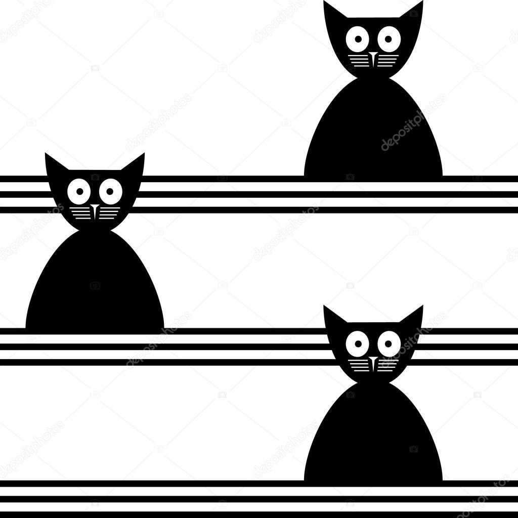 sem costura abstrato de gatos — Vetores de Stock © Lyusjen #52267129