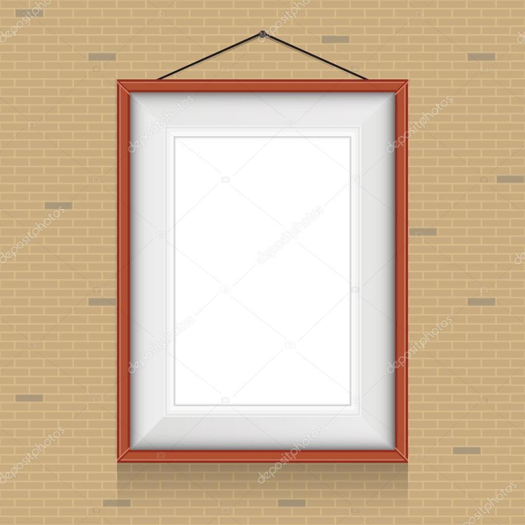 Rahmen für Gemälde an der Wand — Stockvektor © Lyusjen #52268615