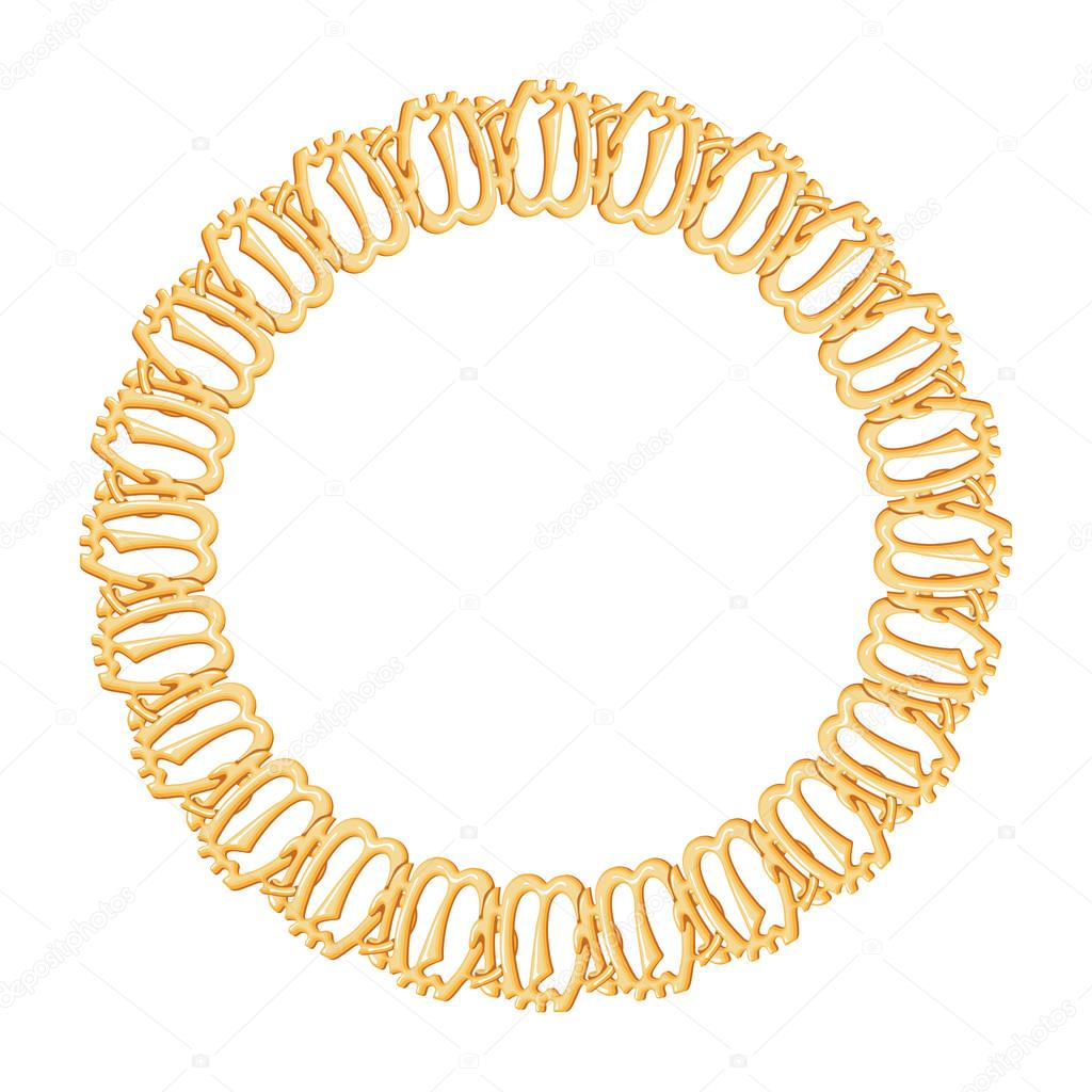 Runde Rahmen, gold Kette — Stockvektor © Lyusjen #52269781