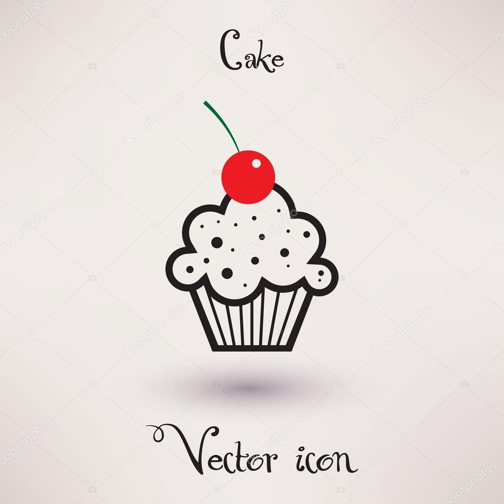 Pictograma de pastel Vector plantilla para tu diseño — Archivo ...