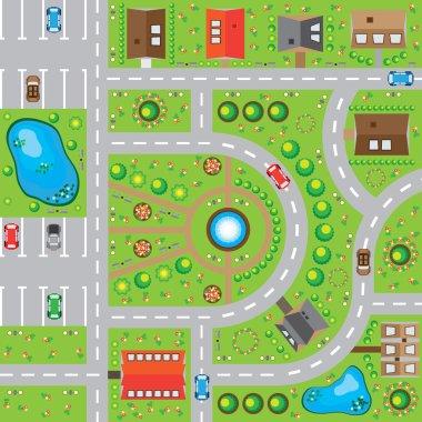 Game background, rural landscape