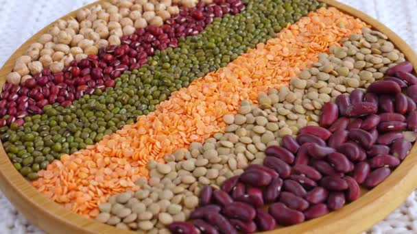 Healthy Food Concept. Assorted Vegan Protein. Different Types Of Beans.