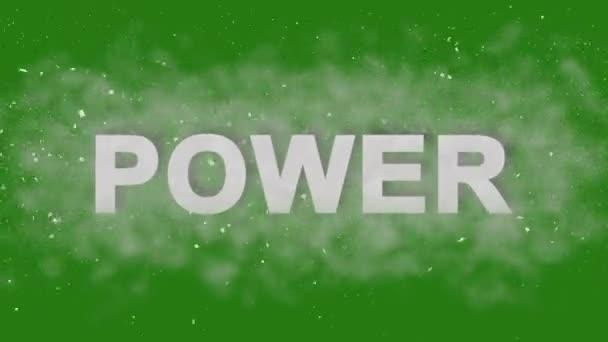 Moc. Motivační animace tituly. Šťávu Logo pro přípojná vozidla