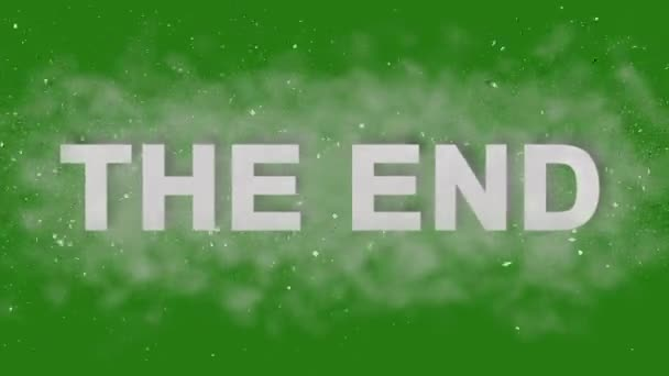 THE END. Animation Bumper Logo for Trailers. Powerful Titles with Effects on Green Screen.