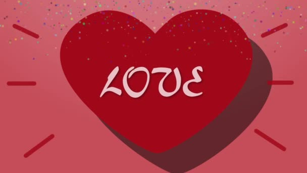 Animation Heart and Love. Valentines Day Background